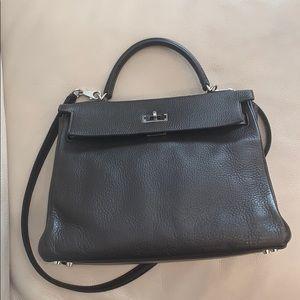 Hermès Paris made in France Kelly bag dark brown